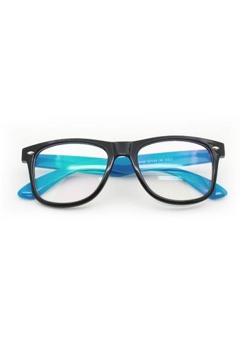 Elitrend black and blue Classic Plastic Frame Glasses - Black / Blue 1DB36GL1471EF5GS_1