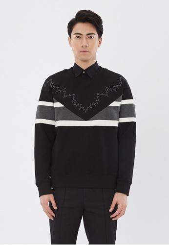 Flawless Flashbacks. black Black Signature Embroidered Sweatshirt F7FD7AAD773B10GS_1