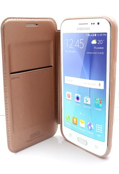 Mobile Leather Cover with Stand For Samsung Galaxy J2