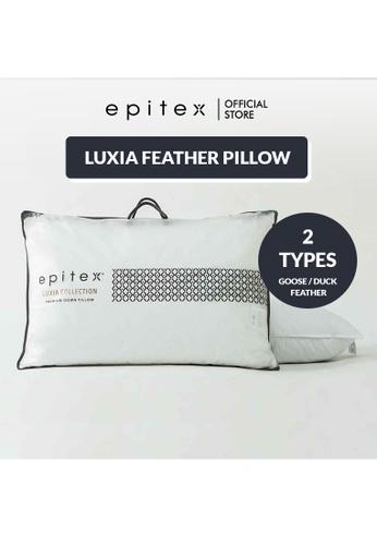 Epitex white Epitex Luxia Goose Feather - Real Feather Down Pillow - Down Pillow - Hotel Pillow (1350g) 9D05BHL60D814DGS_1