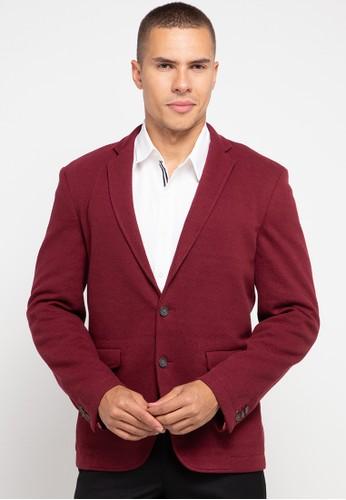 Andrew Smith red Classic Formal Blazer 27F01AA6BA2B60GS_1