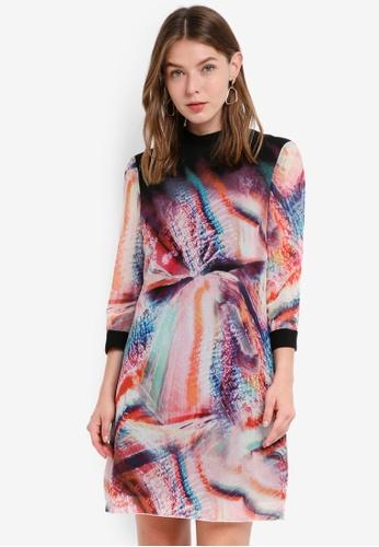 Little Mistress multi Abstract Print Shift Dress AB4DEAA80A82D1GS_1