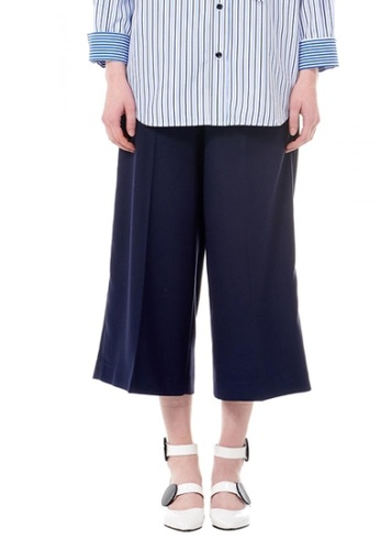 VOV(Voice of Voices) navy Navy Palazzo Trousers B4B5EAABCB642AGS_1