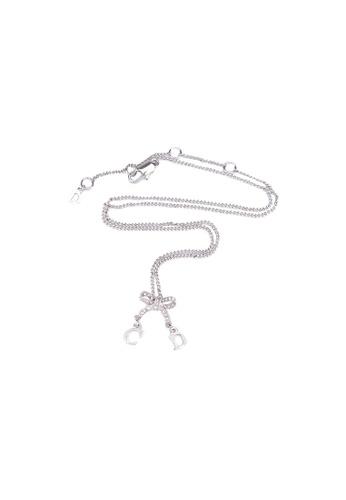 DIOR silver Pre-Loved Christian Dior Silver Necklace Crystal Bow FA2B1AC3676FB6GS_1