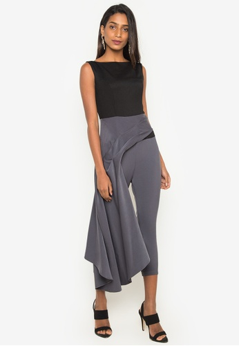 Madelaine Ongpauco Barlao black and grey Holly Jumpsuit MA508AA0JAQMPH_1