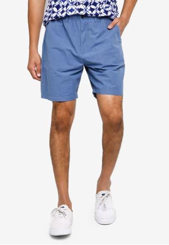 GAP blue Linen Easy Shorts B307EAA4F6F843GS_1