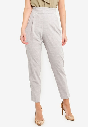 FORCAST grey Selina Tapered Trousers 0421DAAE0AF7B9GS_1