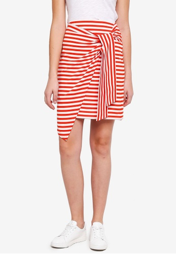 ESPRIT red Knitted Midi Skirt A815FAA8D8F823GS_1