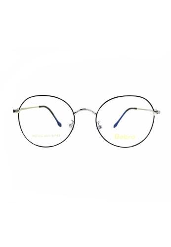 Ibrillen Optical silver RETRO RET004 Kacamata Bulat Korean Style - Black Silver D8B26GL3DDF76FGS_1