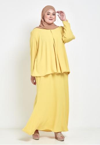 CURVA FABULOUS yellow Ms Seri Minimalist Kurung 15962AA4A2BAB2GS_1