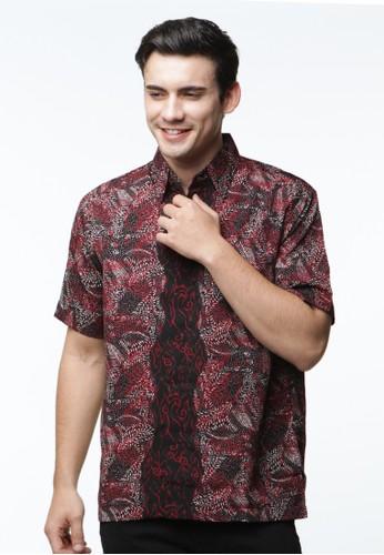 Waskito Hem Batik Semi Sutera - HB 10568 - Black