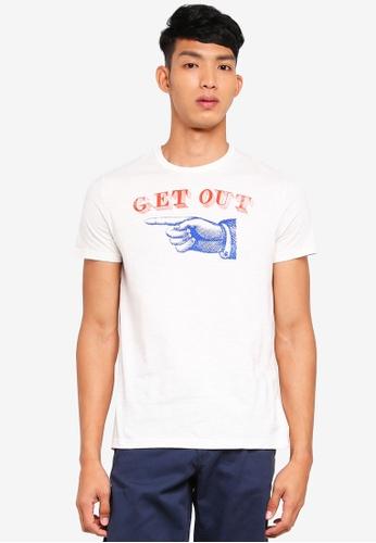 OVS 白色 短袖印花T恤 C79AAAA0C87BBCGS_1