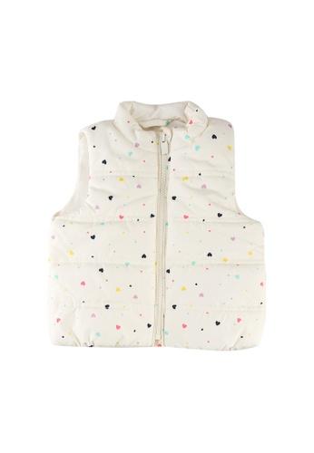 GAP white V-puffer Vest 2F1C2KA0ACDB58GS_1
