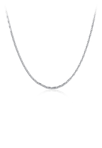 Glamorousky silver Fashion Simple Plated Platinum Flat Necklace 06D7BACA640613GS_1