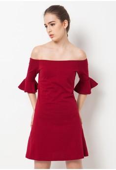 harga Sabrina Bell Sleeves T-Shirt Dress Zalora.co.id