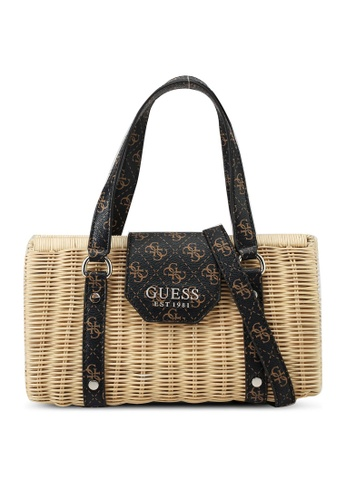 Guess brown Paloma Satchel Bag 4CB9EAC1FE194DGS_1