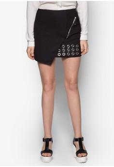 Eyelets Wrap Skirt