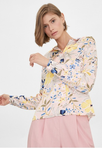 Pomelo pink Colorful Tropical Print Shirt - Pink A9999AA3291050GS_1