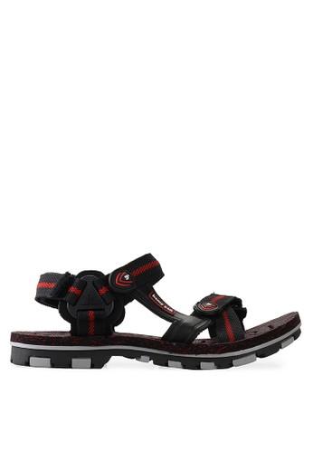Homyped black and red High Way 03 Men Sandal Gunung HO842SH56KLNID_1