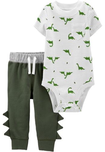 Carter's white CARTER'S Boy Spike Bodysuit Pant Set DD2B2KAC0F81C2GS_1