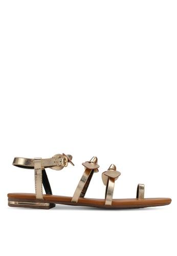 Velvet gold Bow Sandals ADC18SH94E3D5FGS_1