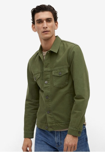 Mango Man green Khaki Denim Jacket 1F3CAAA0C70818GS_1