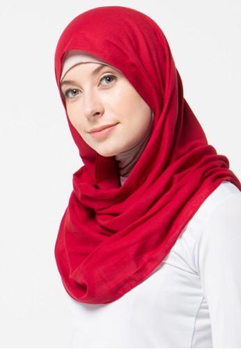 Aira Muslim Butik red Pashmina Foal Rawis AI892AA33XZUID_1