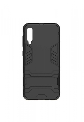 MobileHub black Samsung A70 Hybrid Defender Case with Kickstand D394FACEF983BBGS_1