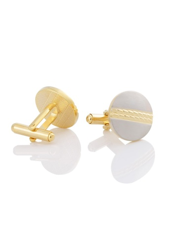 Kings Collection gold Gold Twist Cufflinks (KC10041a) 71D75AC18DAB27GS_1