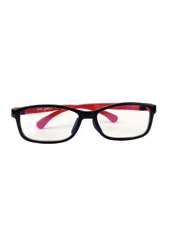 Kids Optics black and red KoolFlex MiniScholar Noir Rogue Anti Blue Light Eyeglasses 3EAECKCBA9418FGS_1