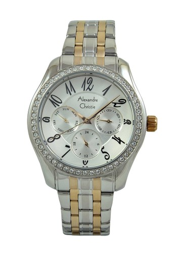 Alexandre Christie gold and silver Alexandre Christie Jam Tangan Wanita - Silver Rosegold - Stainless Steel - 2497 BFBTRSL A9E9FAC3794241GS_1