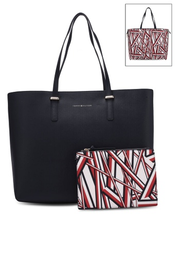 Tommy Hilfiger red SUPER TOMMY TOTE CORP PRINT TO861AC0S4LIMY_1