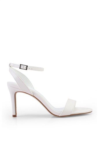 Nose white Ankle Strap Heels F719CSH7998871GS_1