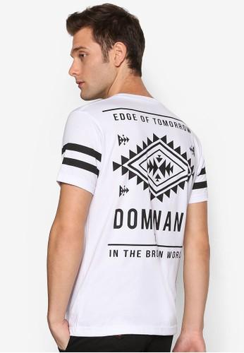 zalora taiwan 時尚購物網鞋子Dominant 文字圖樣印花圓領短袖TEE, 服飾, T恤