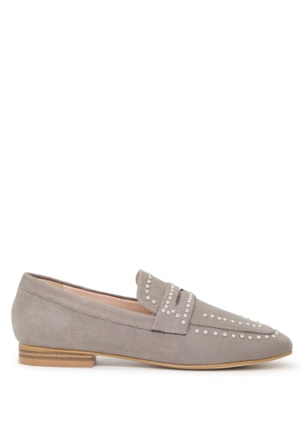 London Rag 灰色 Beryl牛反绒圆头皮鞋 A274ESH2AFDC4CGS_1