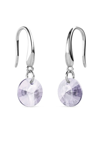 Her Jewellery silver Circlet Hook Earrings (Lavender) - Made with premium grade crystals from Austria HE210AC0GJSLSG_1