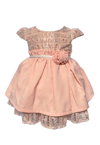 Era Maya pink Peachy Pink Lace Inserted Baby Dress A05B5KAE261EE1GS_1