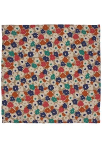 Red Stag And Hind multi Red Stag And Hind Multi-coloured Floral Cotton Pocket Square 21CF2AC1474846GS_1