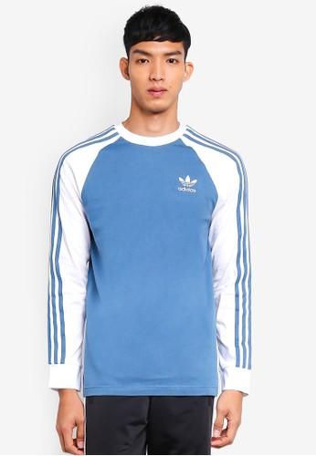 adidas blue adidas originals 3-stripes ls t 22187AA6F15577GS_1