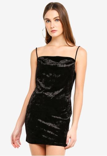 26afd2eca43 Buy TOPSHOP Cowl Velvet Slip Dress Online on ZALORA Singapore