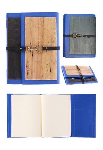Jacinto and Lirio multi Artisan II Dual Cover Refillable Vegan Leather Journal (Medium) 868BDHL629318AGS_1