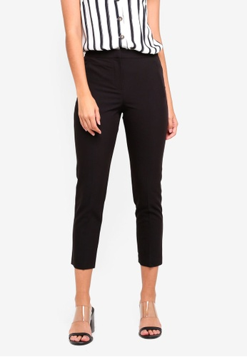 TOPSHOP 黑色 Petite High Waist Cigarette Trousers FB696AA845887AGS_1