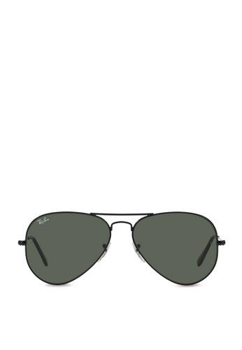ea22b0ad92b Ray-Ban black Aviator Large Metal RB3025 Sunglasses RA370GL28SATSG 1