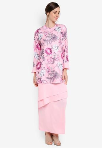 Gene Martino pink Kurung Modern Layer Skirt 6F671AA428AB1CGS_1