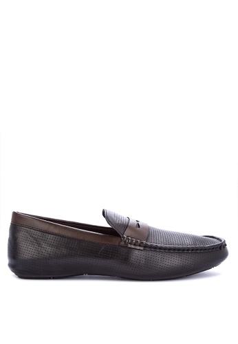 Mendrez black Zed Loafers & Moccasins A2930SH2C050F9GS_1