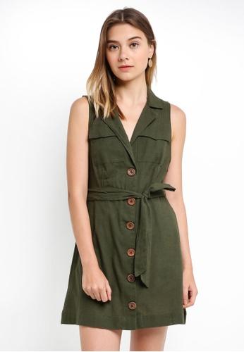 Free People green Hepburn Dress B7921AA37386EDGS_1
