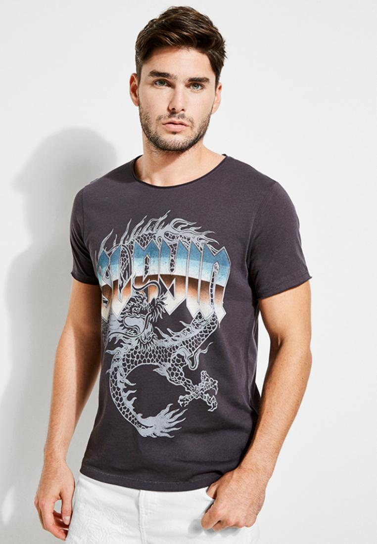 Guess Tee Dragon black Graphic Slayin' HStwqTxxRO
