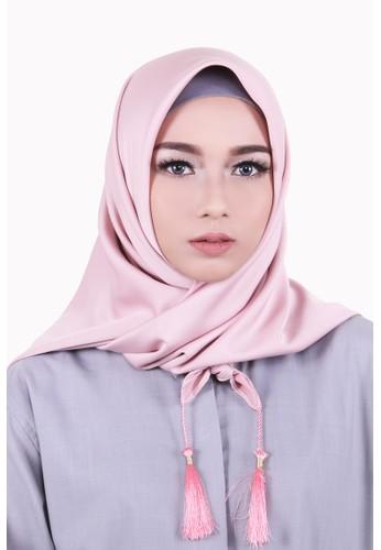 Zelena Aliza Hijab Square - Dusty Pink