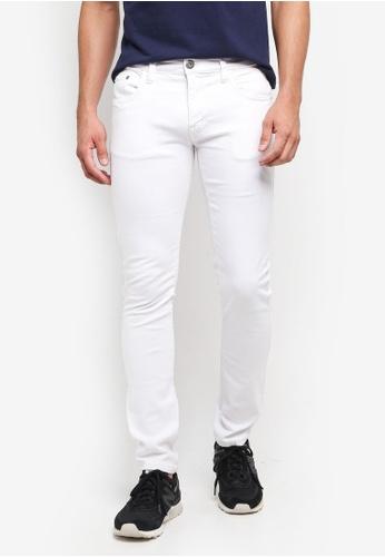 Indicode Jeans 白色 修身窄管牛仔褲 C9C24AABBB2DA1GS_1