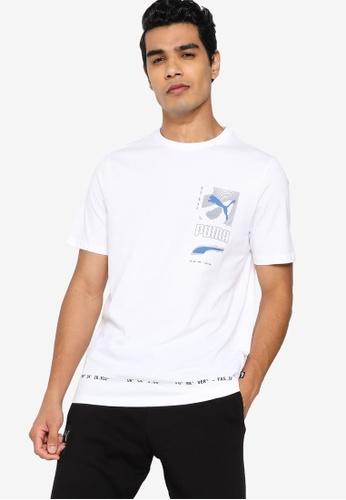 Puma white Digital Men's Tee F4F05AA05664EBGS_1